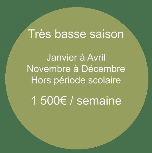 tarif tres basse saison